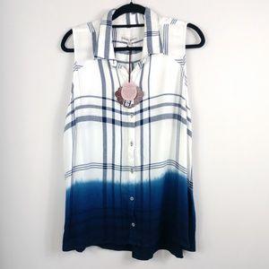 NWT Knox Rose Sleeveless Flannel Shirt